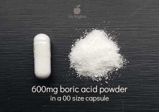 600mg boric acid capsules BV yeast infection thrush My Vagina