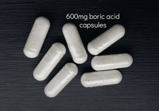 600mg boric acid capsules x 7 BV yeast infections My Vagina
