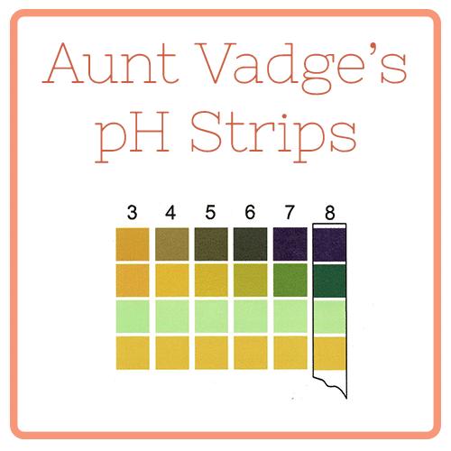 Aunt Vadge's pH Strips
